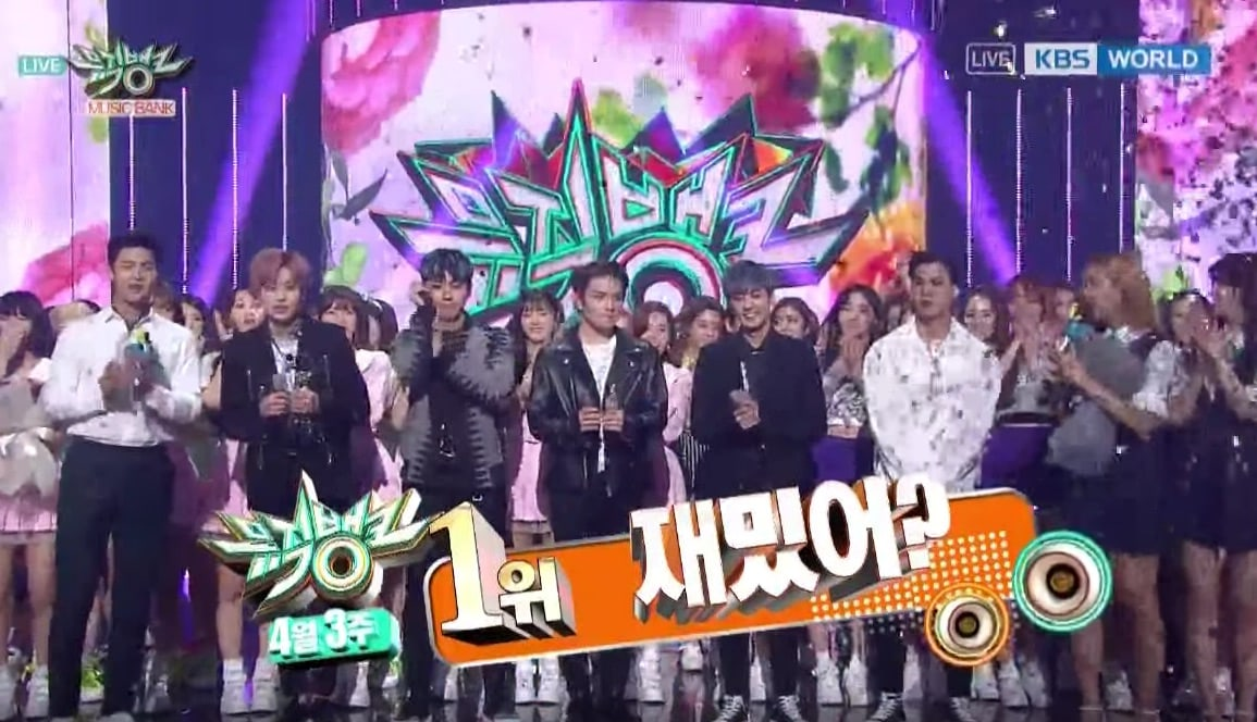 "Watch: Teen Top Takes 1st Win For ""Love Is"" On ""Music Bank,"" Performances By SF9, Minzy, Yesung, And More"