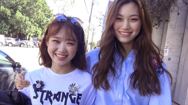 Watch: Yoojung And Doyeon Are All Smiles Under The LA Sunshine