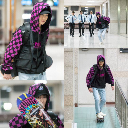 SHINee's Key Is A Mischievous Skateboarder In Stills From Upcoming Action Drama