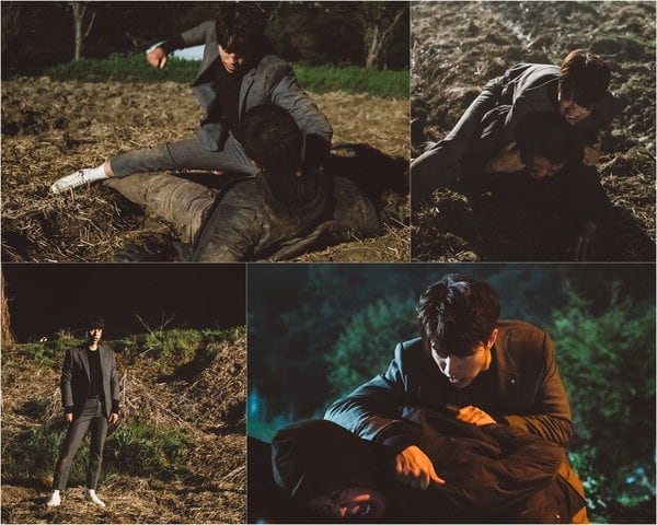 """Tunnel"" Reveals Behind-The-Scenes Stills From Yoon Hyun Min's Epic Fight Scene"