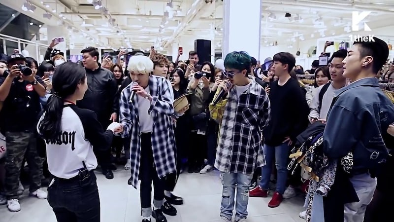 WINNER Puts On Special Performance At A Fans Workplace