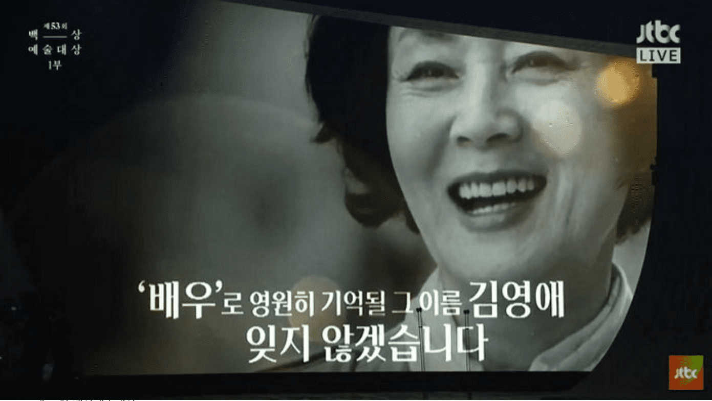 53rd Baeksang Arts Awards Pay Tribute To Kim Young Ae With Lifetime Achievement Award