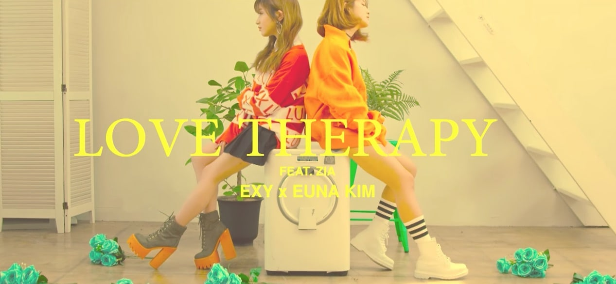 """Watch: Euna Kim And Cosmic Girls' Exy Rap About Love And Relationships In """"Love Therapy"""" MV"""