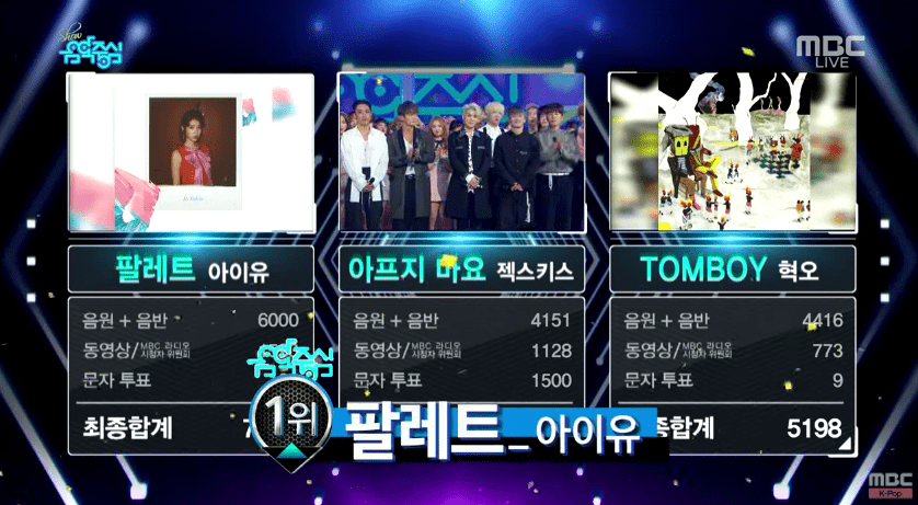"""Watch: IU Takes 6th Win With """"Palette"""" On """"Music Core""""; Performances By WINNER, SECHSKIES, And More!"""