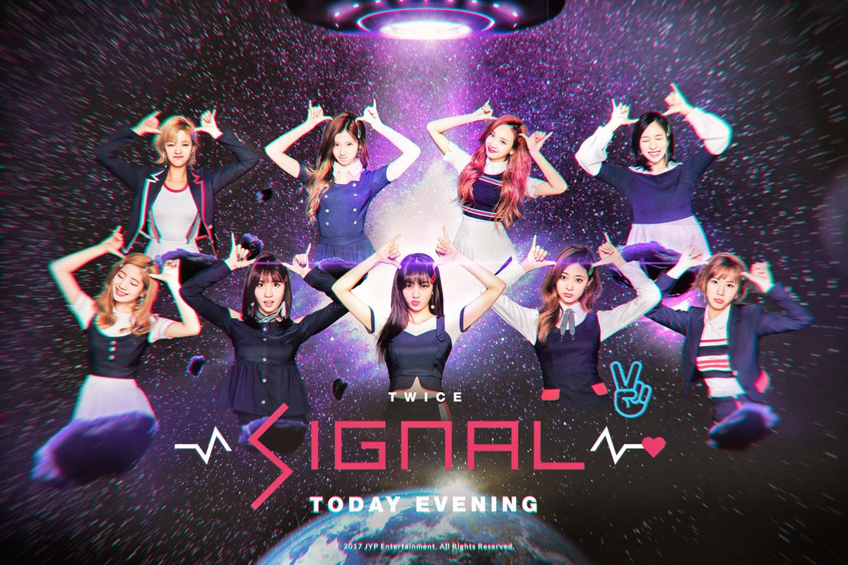 "Update: TWICE Releases Group Teaser For Live Broadcast Ahead Of ""Signal"" Comeback"