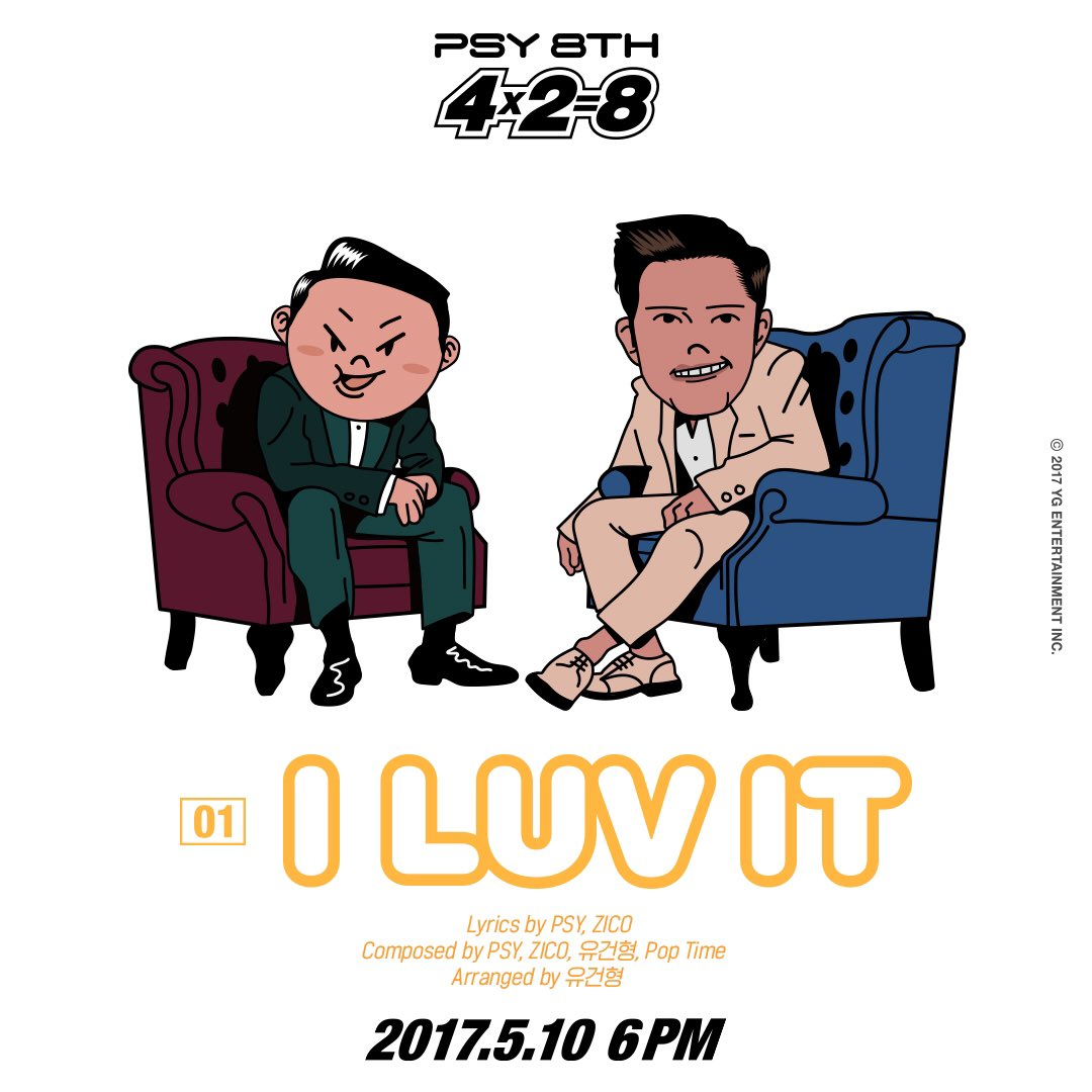 PSY Drops Humorously Illustrated Teaser Images Of Featuring Artists From Upcoming Album