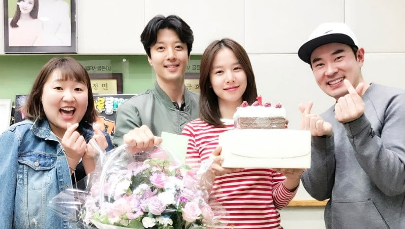 Lee Dong Gun Sweetly Surprises Wife Jo Yoon Hee On Her Radio Program's 1st Anniversary