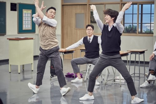 """Super Junior's Kim Hee Chul And Psy To Go Head-To-Head In An Epic Dance-Off On """"Ask Us Anything"""""""