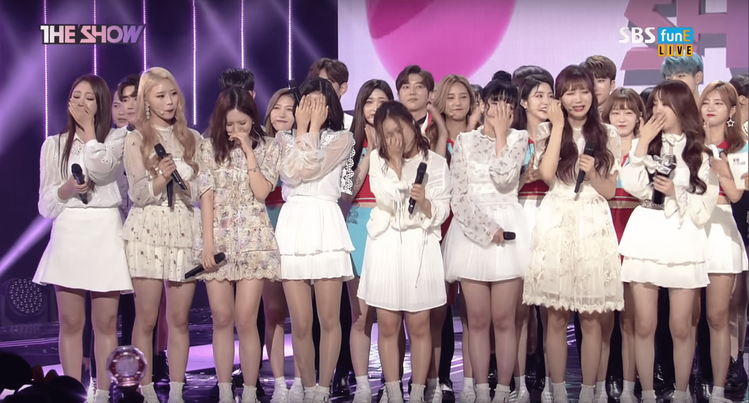 """Watch: Lovelyz Takes Their 1st Ever Win On """"The Show"""" With """"Now, We,"""" Performances By DIA, PRISTIN, LABOUM, And More"""