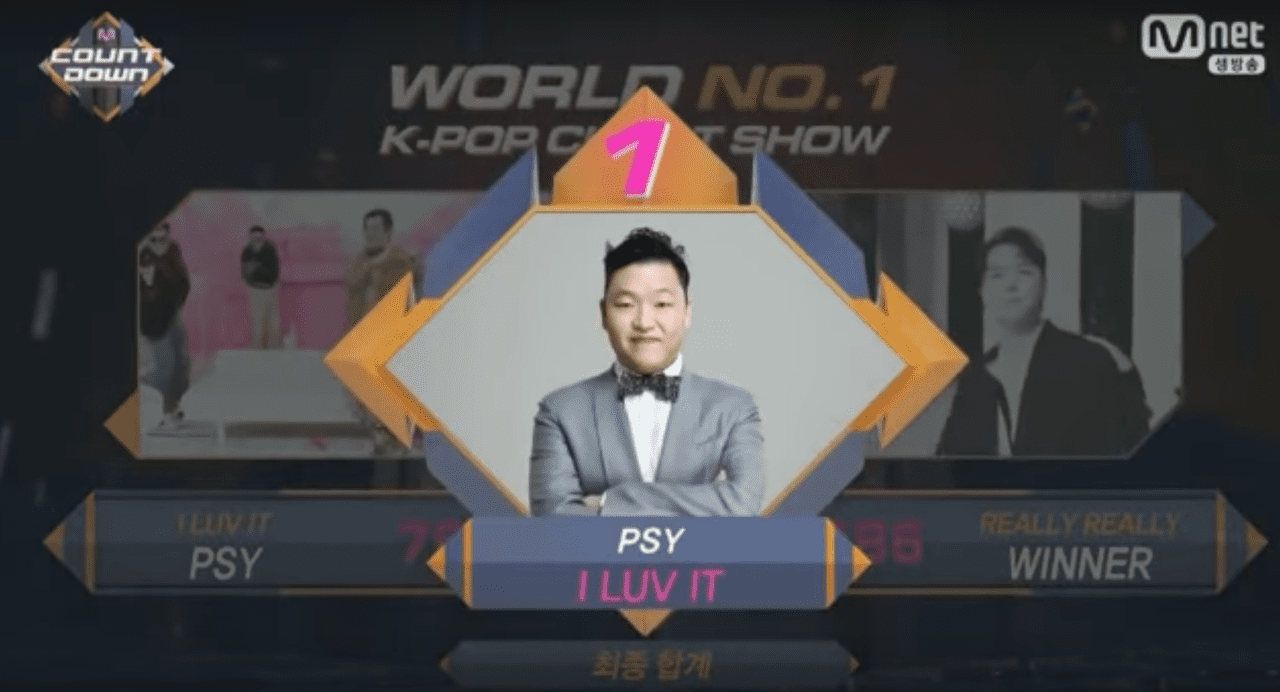 """Watch: PSY Takes 1st Win With """"I Luv It"""" On """"M!Countdown,"""" Performances By TWICE, VIXX, Roy Kim, And More"""