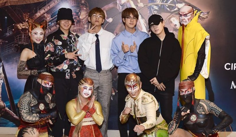 Cirque du Soleil‏ Wishes BTS The Best Of Luck At Billboard Music Awards