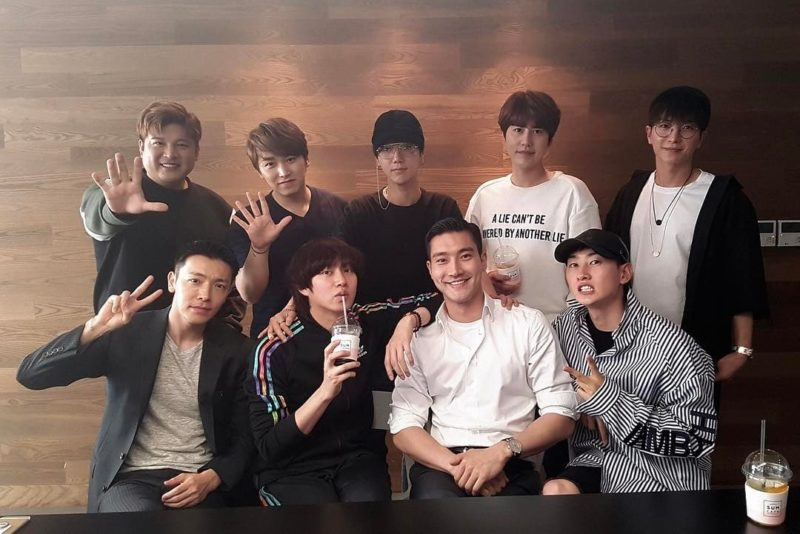 Super Junior Members Share Photos From Their Most Recent Meetup