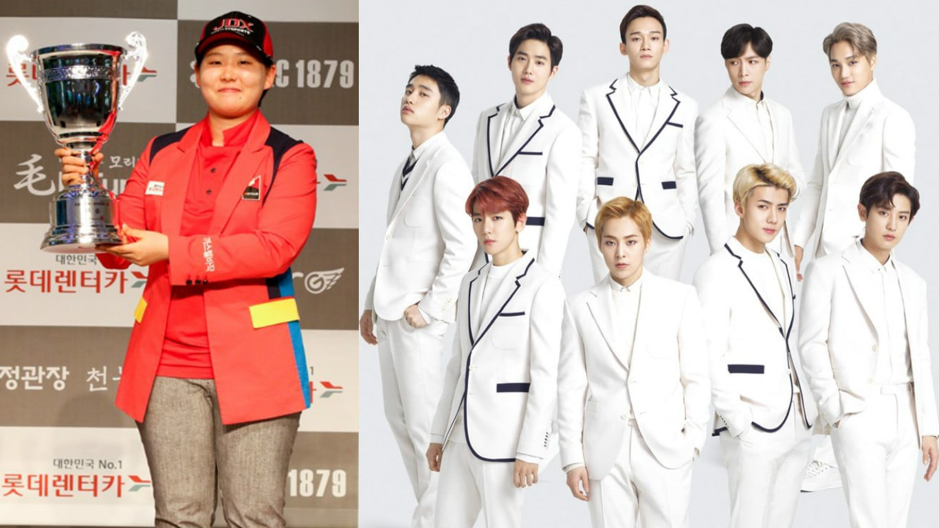 Golfer Jung Seon Ah Says EXO Was The Driving Force For Her Recent Record-Setting WGTOUR Win