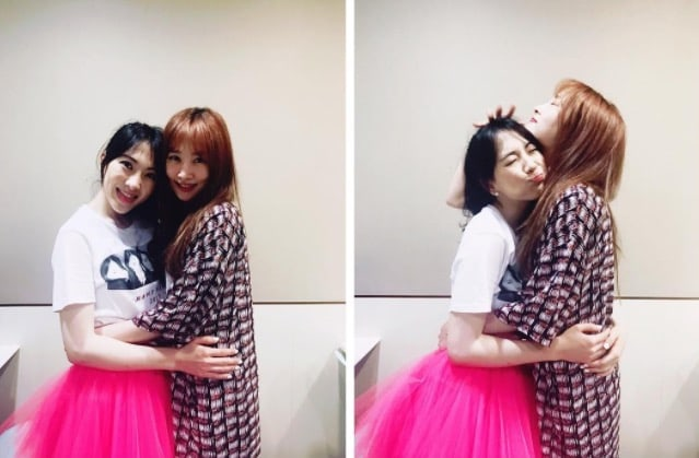 Nicole Jung And Kang Ji Young Have A Mini KARA Reunion In Sweet Photos