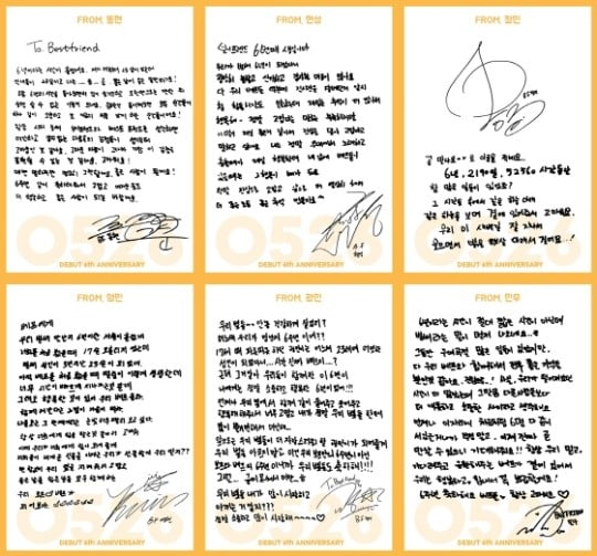 Boyfriend Escribe Cartas Para Los Fans En Honor A Su 6to Aniversario