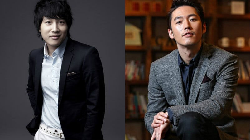 "Good Friends Jang Hyuk And Cha Tae Hyun Meet On Set Of ""Greatest One-Shot"" As Actor And Director"