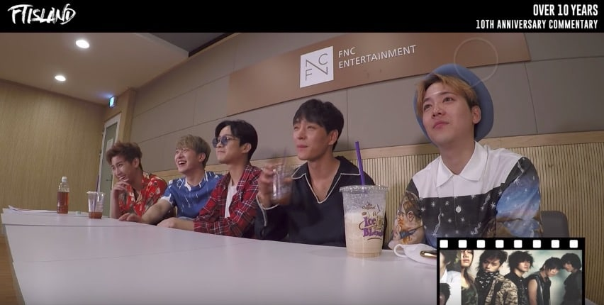 FTISLAND Reacts To Their Transition From Rookies To Veterans In 10th Anniversary Commentary Video