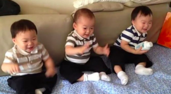 Watch: Song Il Gook Shares An Adorable Throwback Video Of The Triplets
