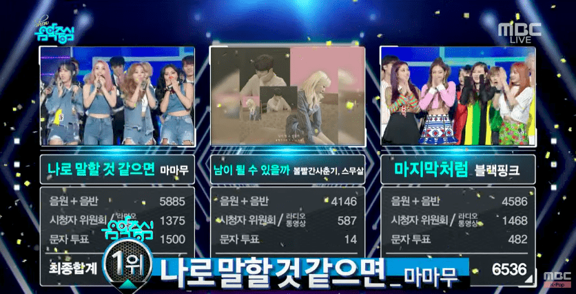 "Watch: MAMAMOO Grabs 4th Win For ""Yes I Am"" On ""Music Core""; Performances By BLACKPINK, NCT 127, And More"