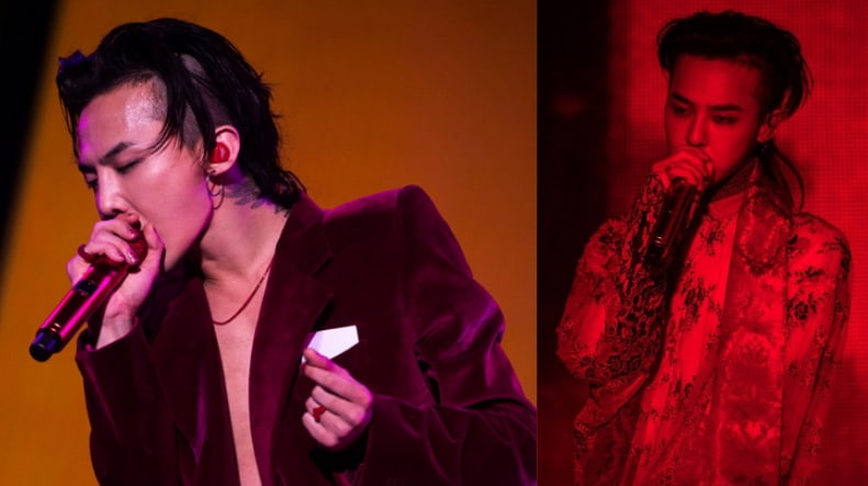 Watch: G-Dragon Keeps On Performing Despite Fan Jumping On Stage And Embracing Him At Concert