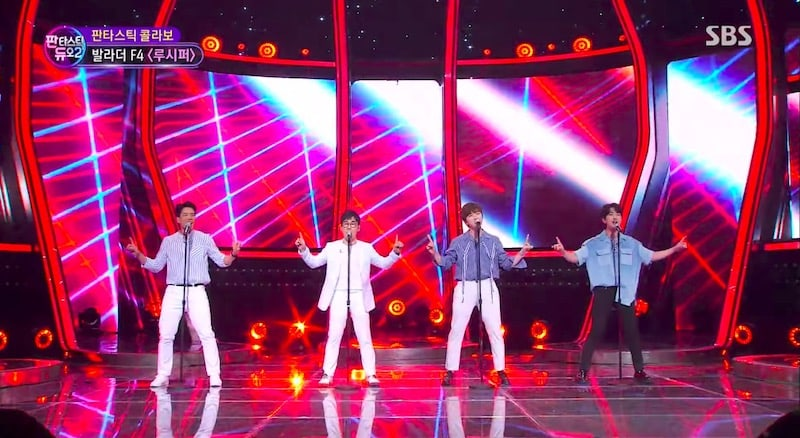 "Watch: SHINee's Onew, B1A4's Sandeul, 2AM's Changmin, And Kim Yeon Woo Team Up For Jaw-Dropping ""Lucifer"" Performance"