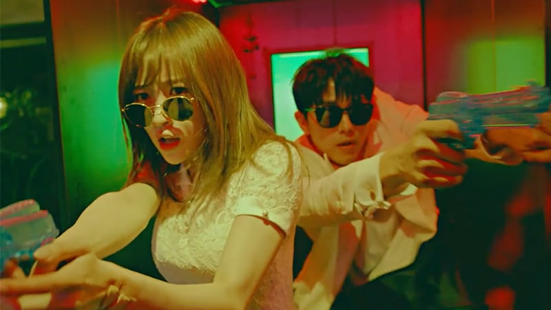 "Watch: Im Seulong And EXID's Hani Are An Adorable Couple On The Run In ""It's You"" MV"