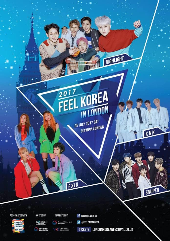Highlight, EXID, KNK, Snuper To Take The Stage At 2017 Feel Korea In London
