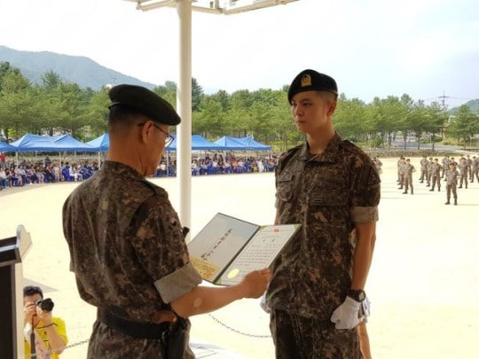 Joo Won Promoted To Assistant Instructor In His Army Division