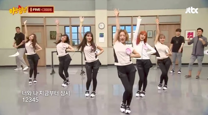 """Watch: Apink Performs A Sneak Preview Of New Song """"Five"""" On """"Ask Us Anything"""""""