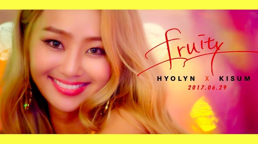 "Watch: Hyorin Is Playful And Colorful In Teaser For Collaboration Track ""Fruity"" With Kisum"