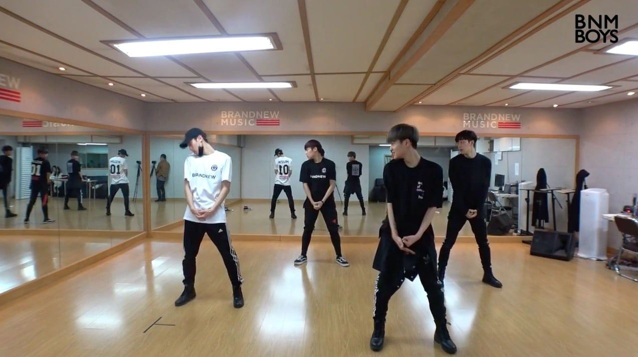 "Watch: Brand New Music Drops Dance Practice Video For ""Produce 101 Season 2"" Trainees' ""Hollywood"" Performance"