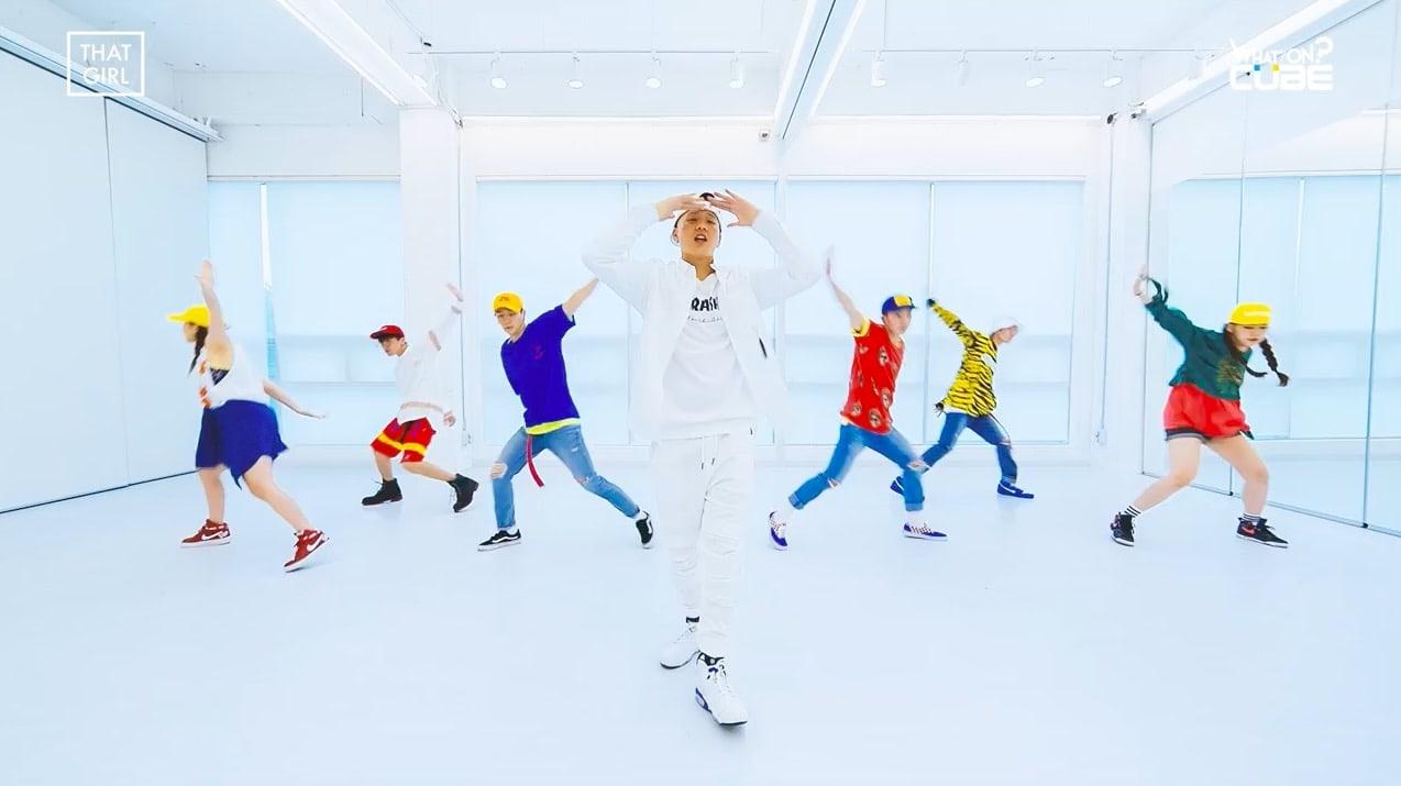"Watch: BTOB's Peniel Serenades ""That Girl"" In Fun Dance Practice Video For Solo Track"