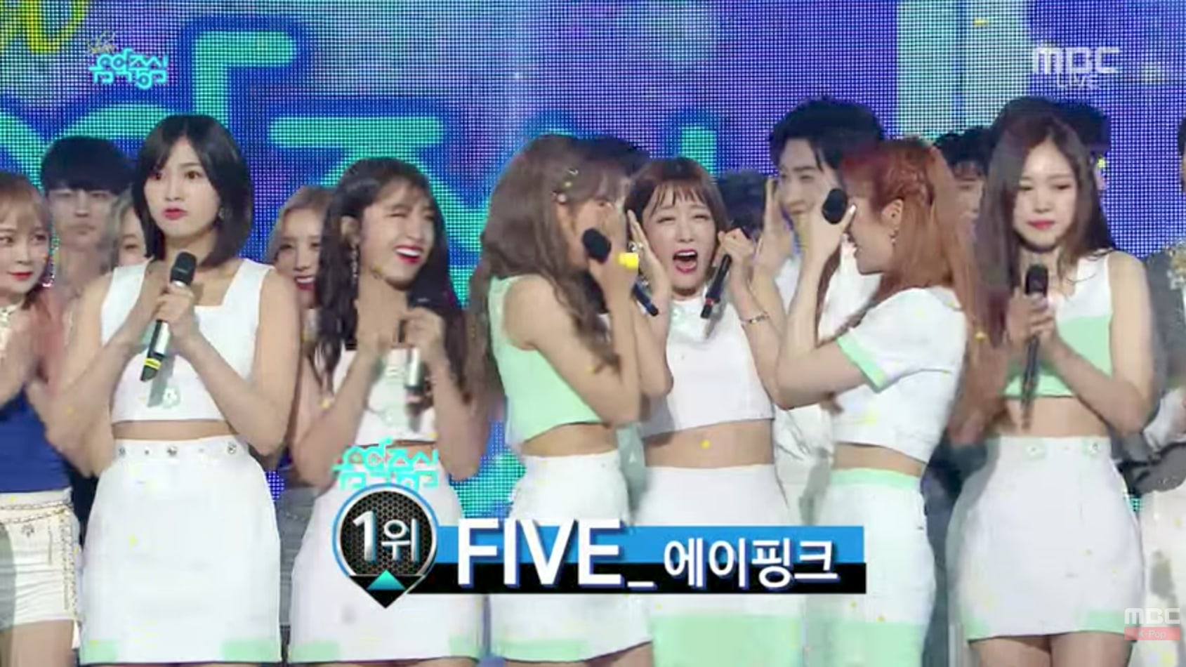 "Watch: Apink Grabs 3rd Win For ""Five"" On ""Music Core""; Performances By MAMAMOO, Lee Hyori, & More"