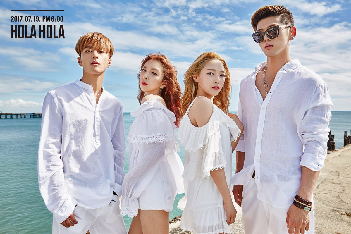 "Update: K.A.R.D Members Are Seaside Beauties In New Teaser Photos For Debut Mini Album ""Hola Hola"""