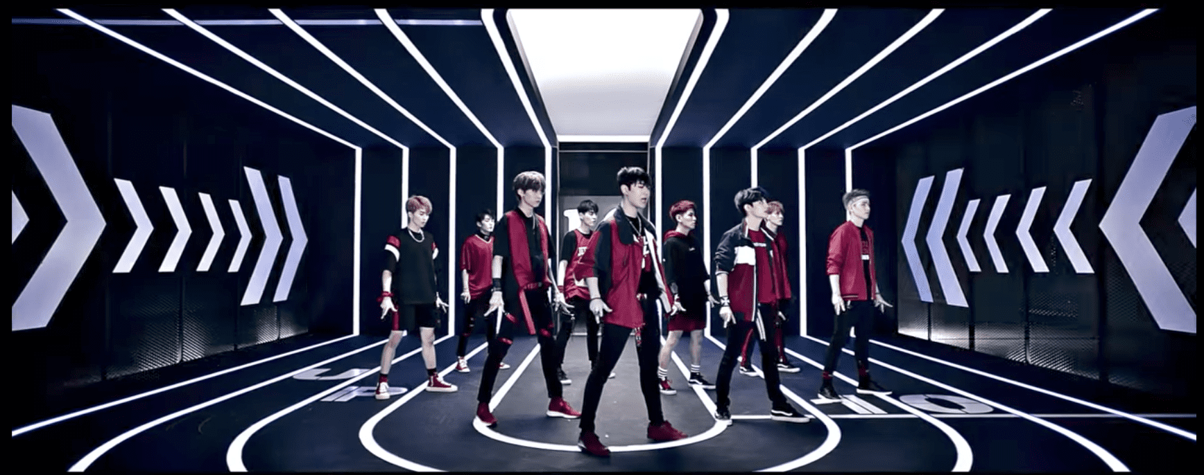 "Watch: UP10TION Shows Off Their Flashy Footwork In Dance Version Of ""Runner"" MV"