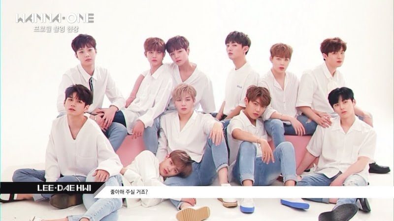 Watch: Wanna One Is All Sorts Of Adorable While Taking First Official Profile Photos