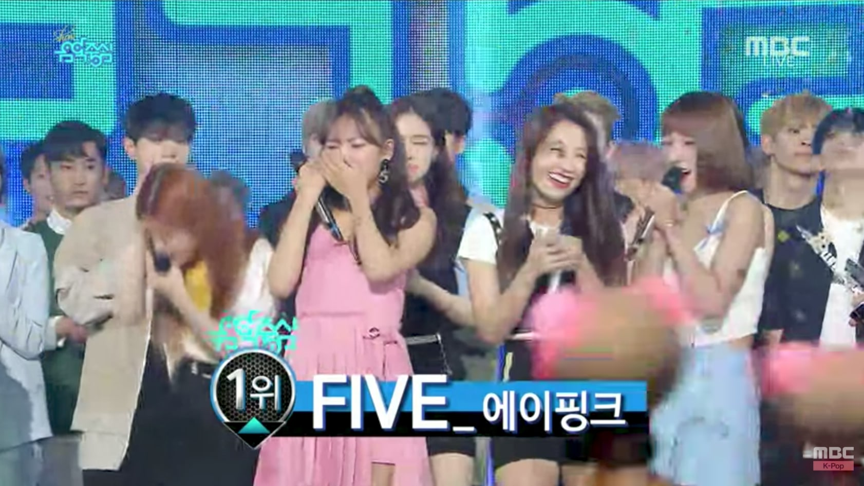 "Watch: Apink Takes 6th Win For ""Five"" On ""Music Core""; Performances By BLACKPINK, UP10TION, And More"