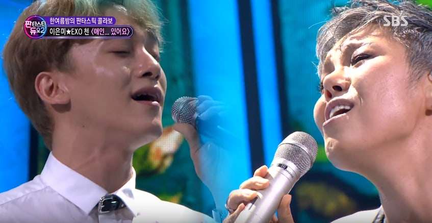 "Watch: EXO's Chen And Lee Eun Mi Deliver A Legendary Performance On ""Fantastic Duo 2"""