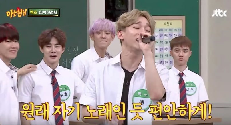 "Watch: EXO's Chen Pulls Off Insanely Difficult Song + Other Impressive Performances On ""Ask Us Anything"""