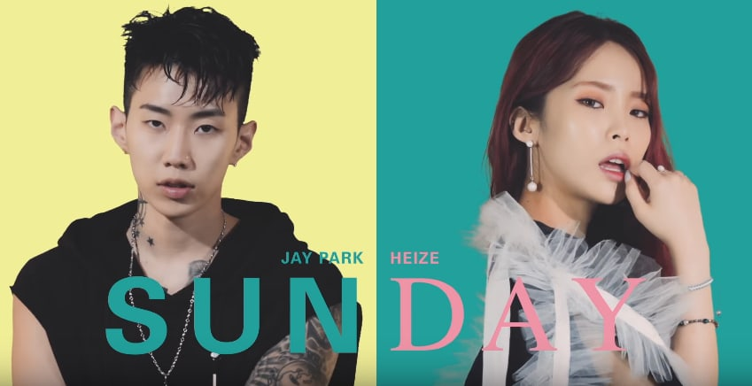 "Watch: Jay Park And Heize Can't Wait For ""Sunday"" In GroovyRoom's New MV"