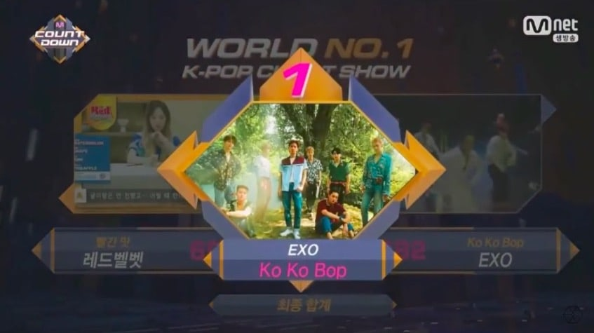 "Watch: EXO Grabs 2nd Win For ""Ko Ko Bop"" On ""M!Countdown,"" Performances By Red Velvet, KARD, And More"