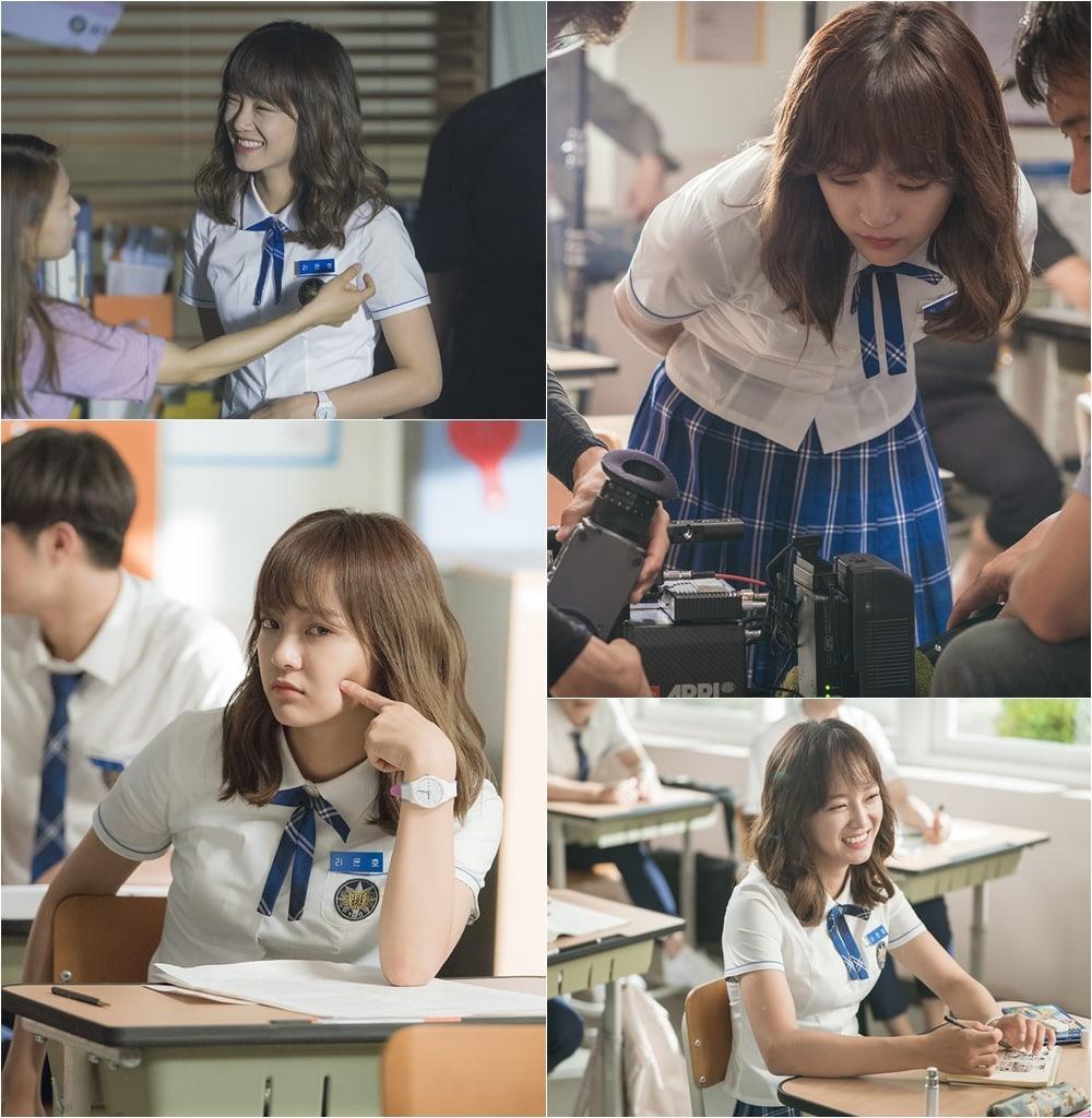 "Kim Sejeong Is Full Of Energy In ""School 2017"" Behind-The-Scenes Stills"