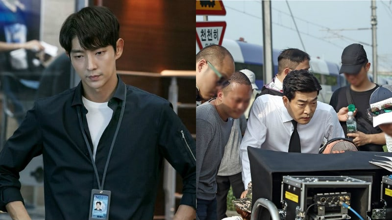 """Lee Joon Gi And Son Hyun Joo Show Off Their Professionalism Behind The Scenes Of """"Criminal Minds"""""""