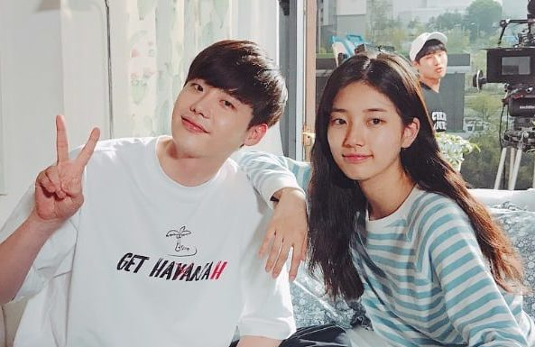 Lee Jong Suk Shares More Photos From Wrapping Up While You Were Sleeping