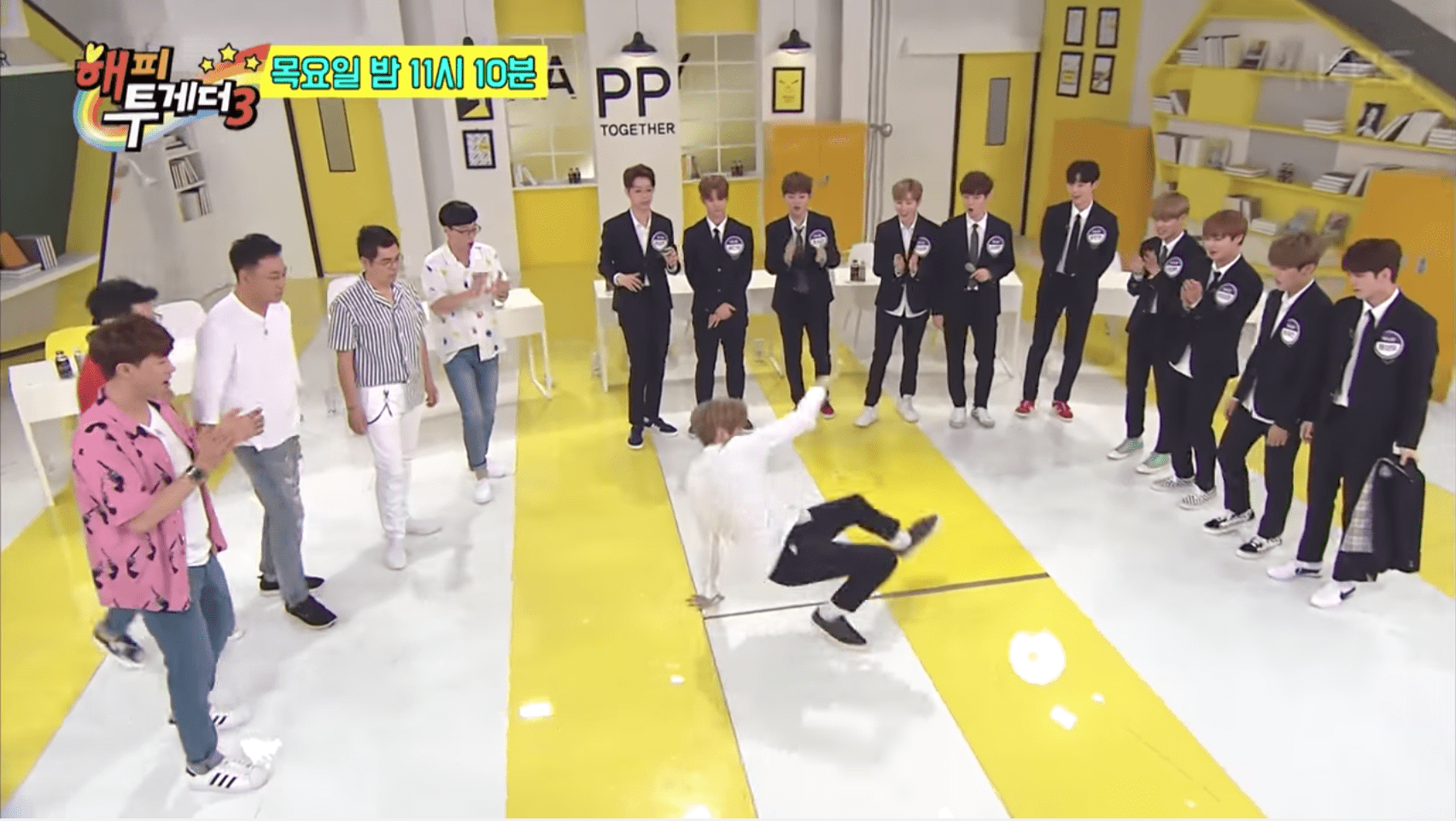 """Watch: Wanna One Has A Dance-Off And Picks More Character Descriptions In """"Happy Together 3"""" Teasers"""