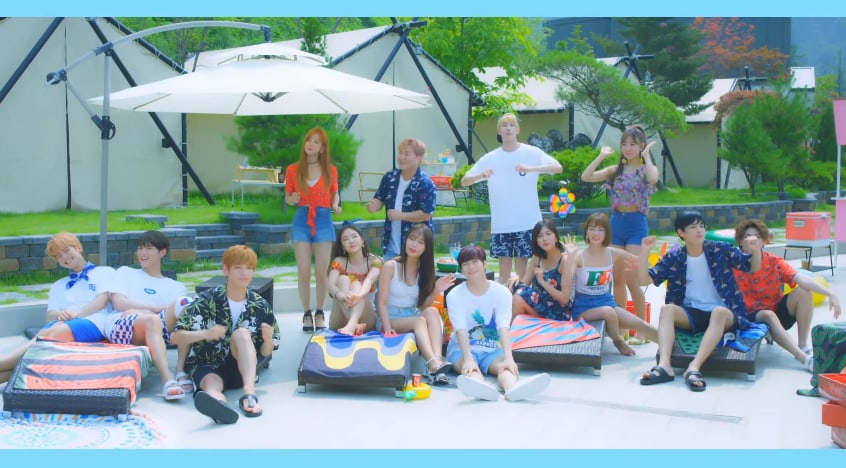 Watch: Apink, VICTON, And Huh Gak Throw A Pool Party For Plan A's Summer MV