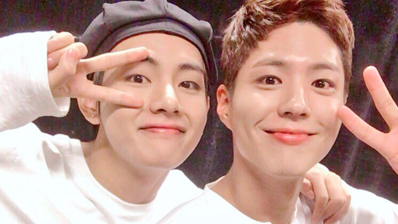 Park Bo Gum And BTS's V Show Off Their Bromance In New Selfies