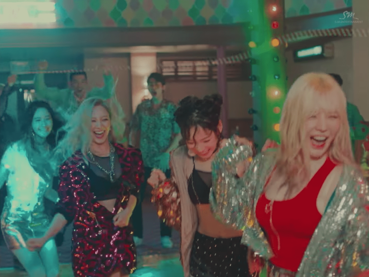 "Watch: Girls' Generation Keeps The Party Going In New Version Of ""All Night"" MV"
