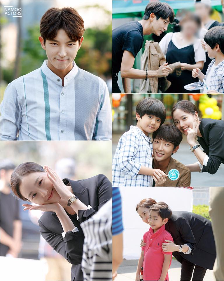 """Lee Joon Gi And Moon Chae Won Adorably Interact With Children Behind The Scenes Of """"Criminal Minds"""""""