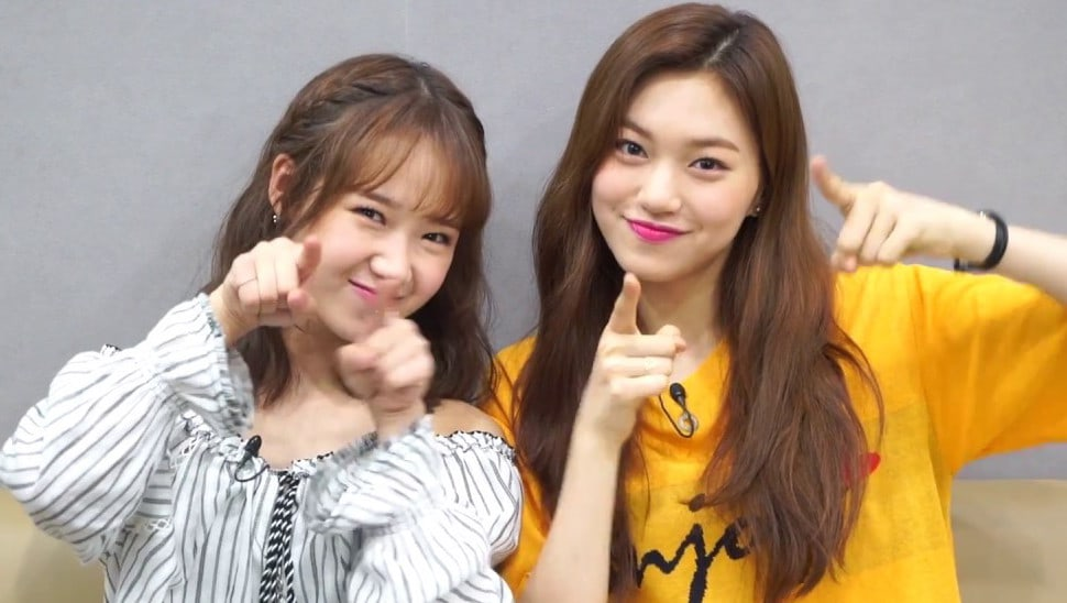 Weki Mekis Choi Yoojung And Kim Doyeon Give Some Tips To Wanna One